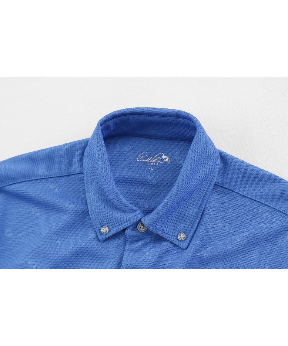 アーノルドパーマー(arnold palmer) ゴルフウェア ポロシャツ 長袖 エンボスボタンダウン長袖シャツ AP220202J06 【2020年秋冬モデル】
