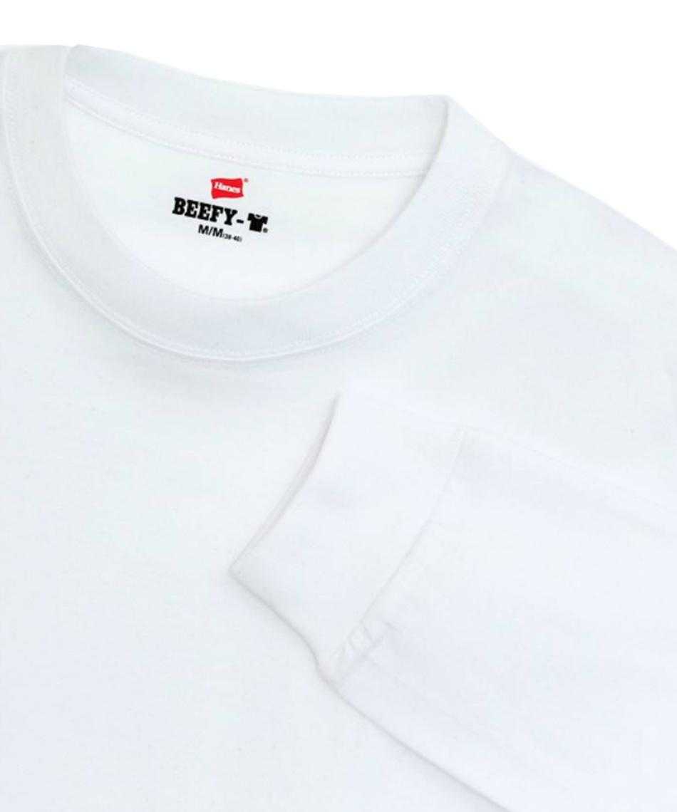 ヘインズ(Hanes) 長袖アンダーウェア ビーフィーロングスリーブTシャツ BEEFY-T H5186-010