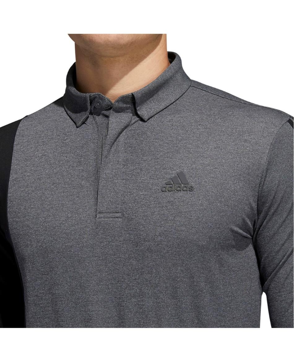 アディダス(adidas) ゴルフウェア 長袖シャツ カラーブロック 長袖ボタンダウンシャツ ゴルフ INS69 【国内正規品】【2020年秋冬モデル】
