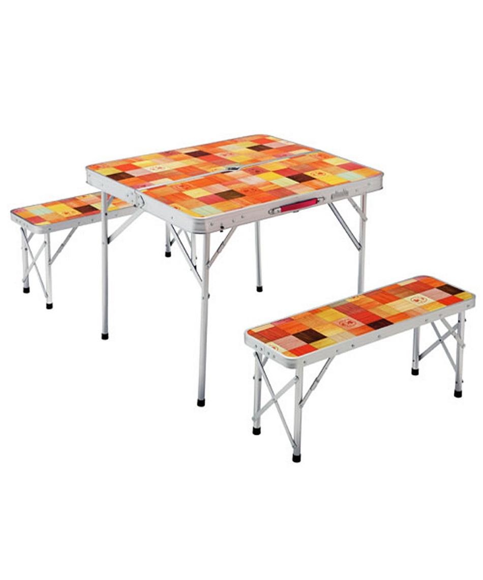 コールマン(Coleman) テーブルベンチセット ナチュラルモザイク ファミリーリビングセット/ミニプラス 2000026758