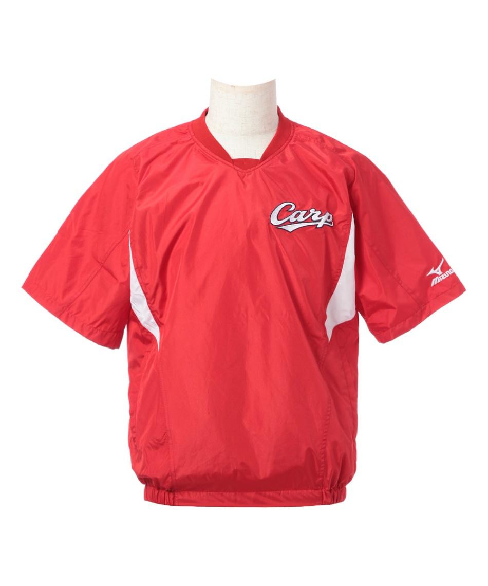 ミズノ(MIZUNO) 野球 半袖ウインドブレーカージャケット 半袖Vジャン 12JRVC7462