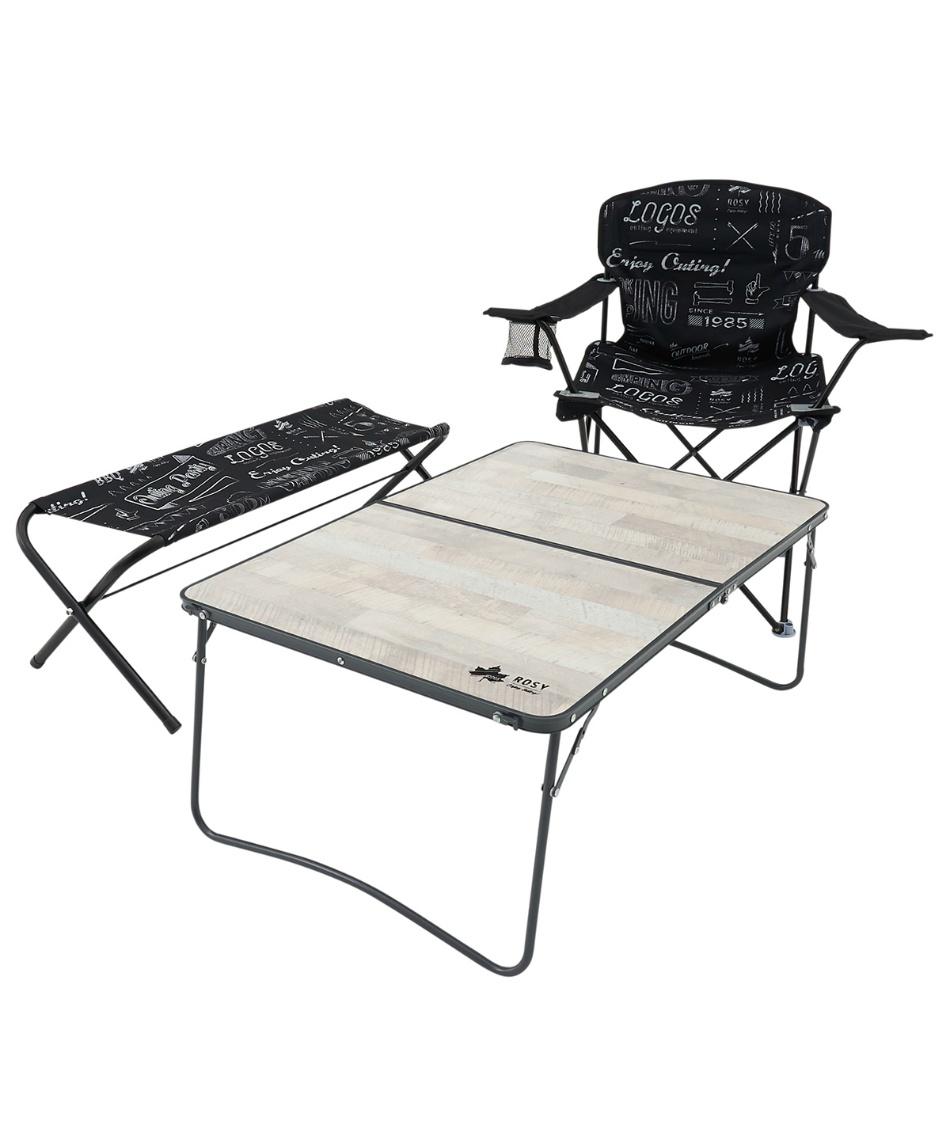 ロゴス(LOGOS) アウトドアテーブル 90cm ROSY ファミリー2FDローテーブル9060 73189055