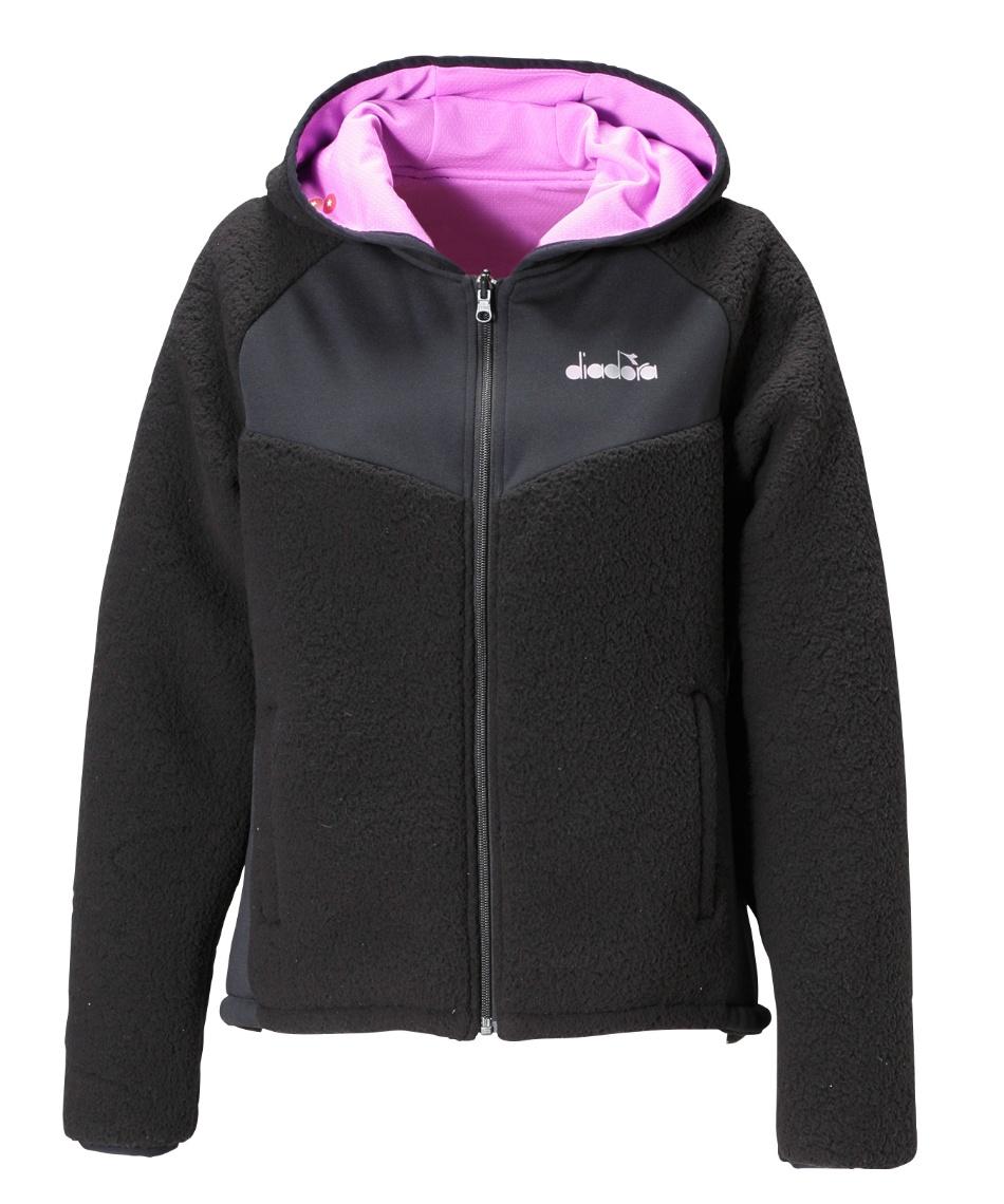 ディアドラ(DIADORA) テニスウェア バドミントンウェア 防寒ジャケット 2ウェイフーディージャケット DTP0195