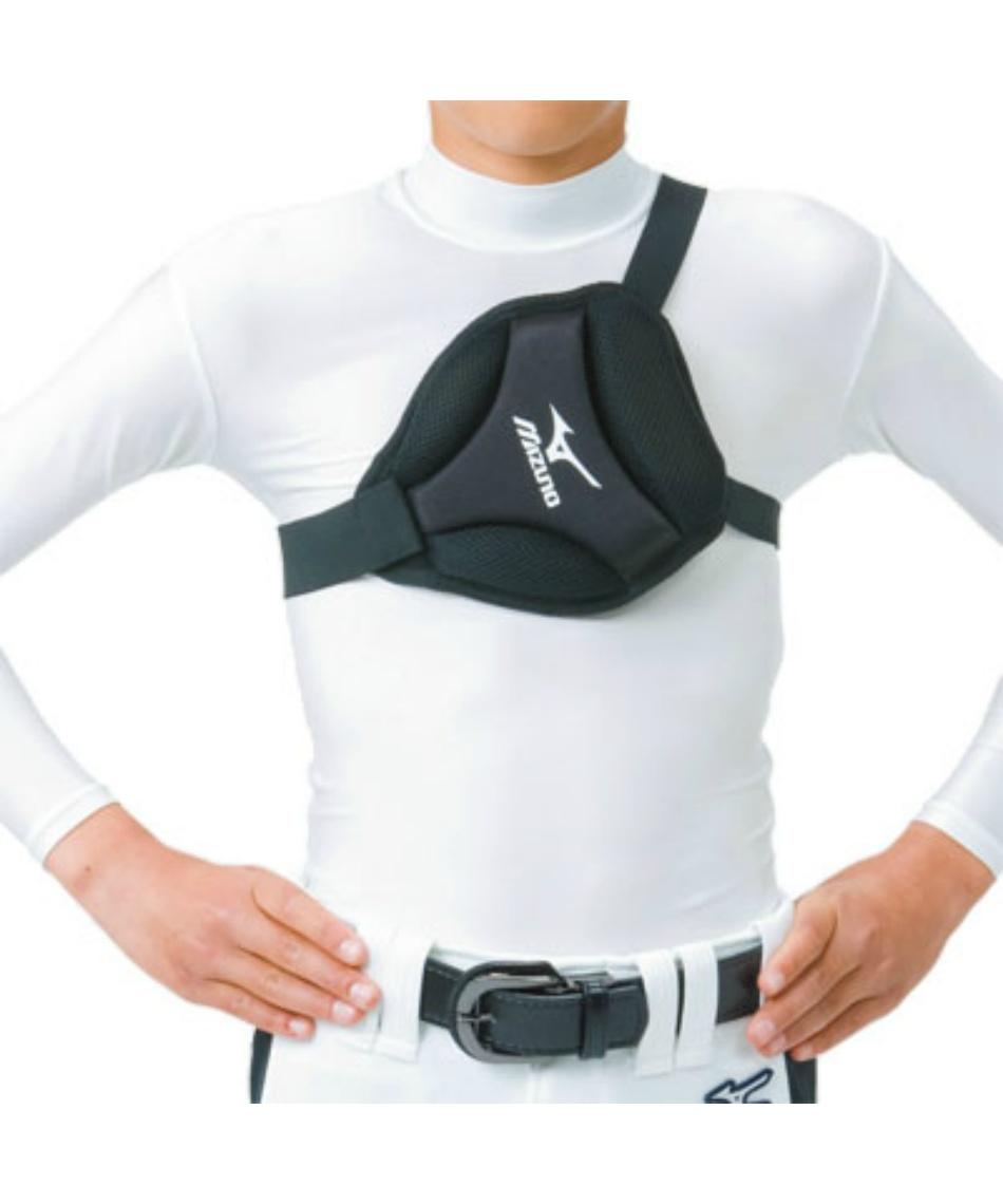 ミズノ ( MIZUNO ) 野球 プロテクター 胸部保護パッド 右 左投げ兼用 身長155cm未満用 2YB100