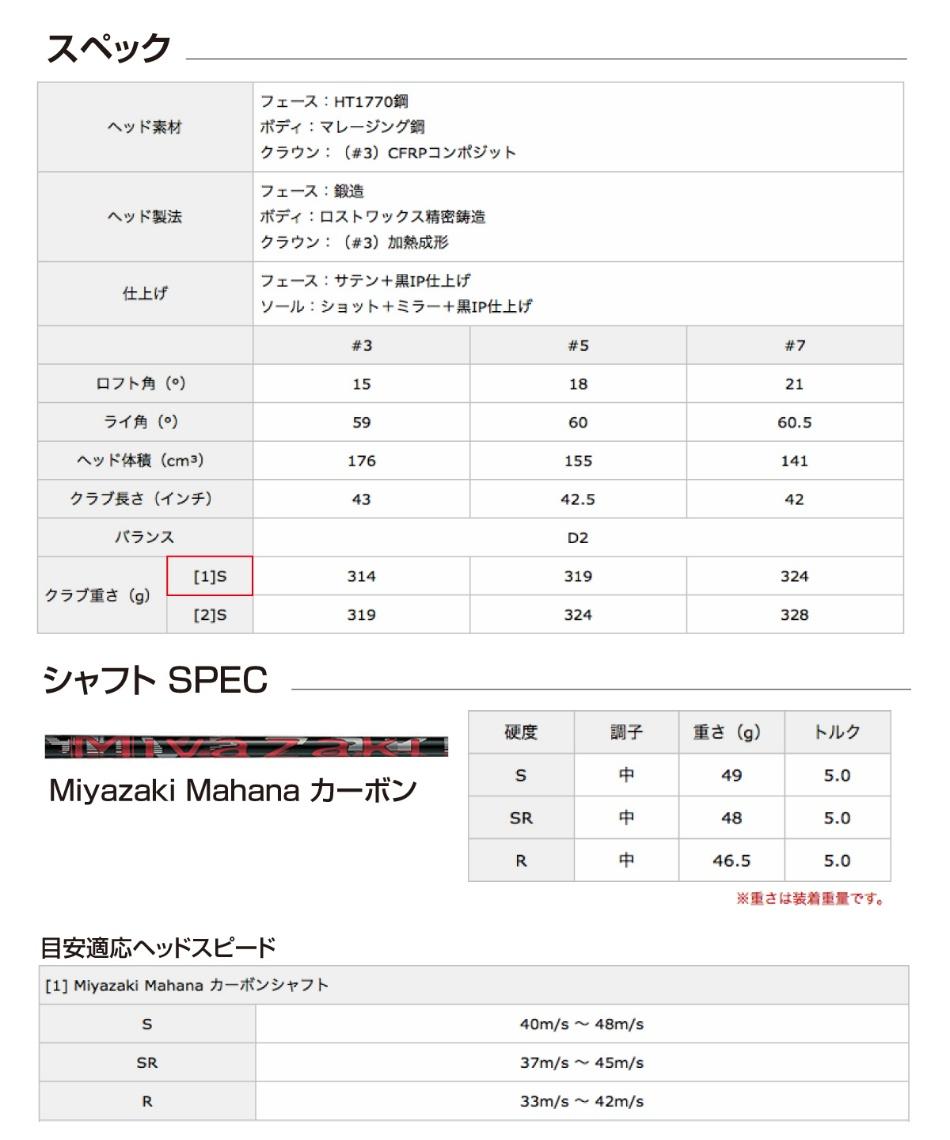 スリクソン(SRIXON) ゴルフクラブ フェアウェイウッド Z F85 シャフト Miyazaki Mahana カーボン 【2018年モデル】【国内正規品】