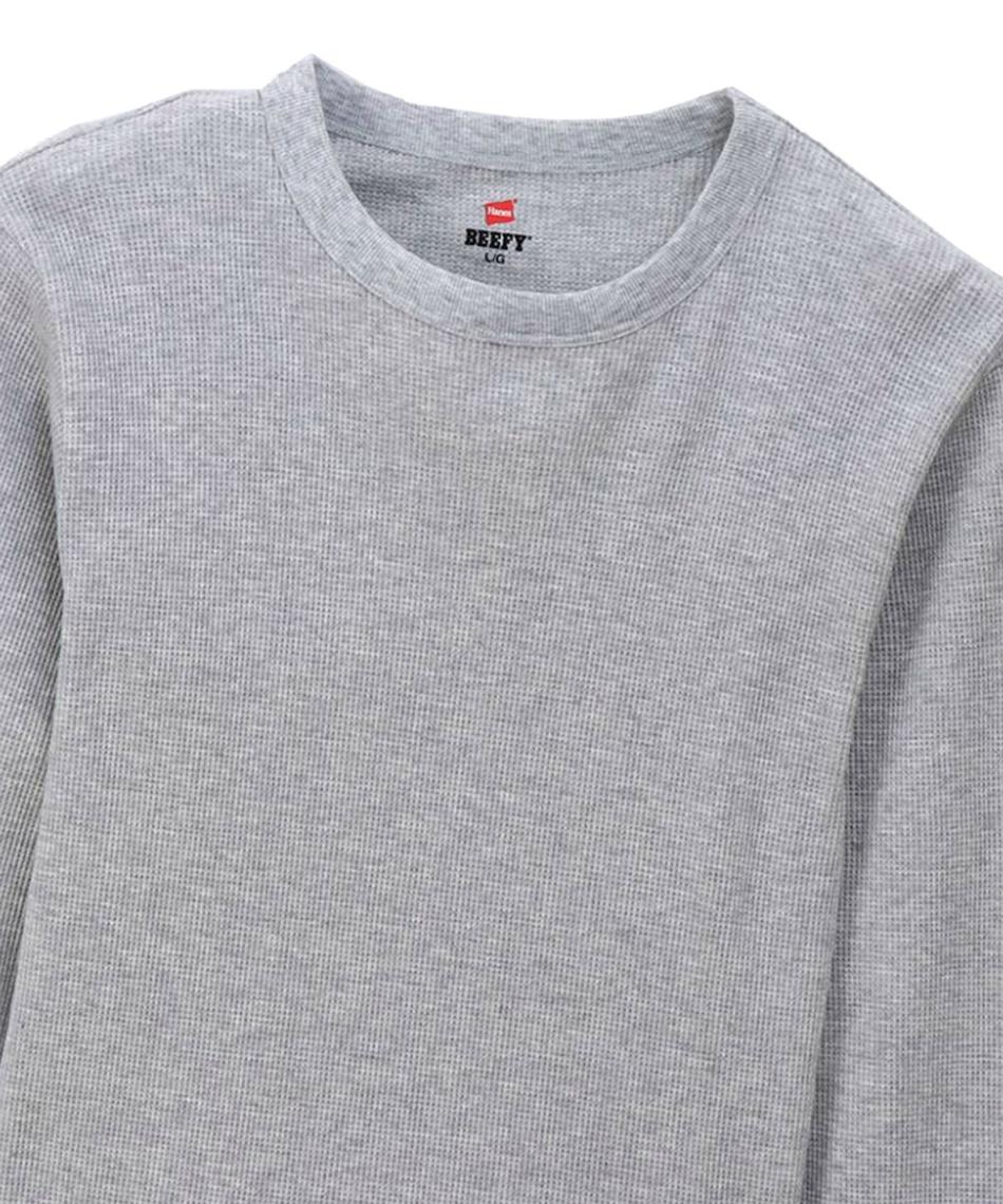 ヘインズ(Hanes) 長袖アンダーウェア ビーフィーサーマルクルーネックロングスリーブTシャツ BEEFY-T  HM4-Q103-060