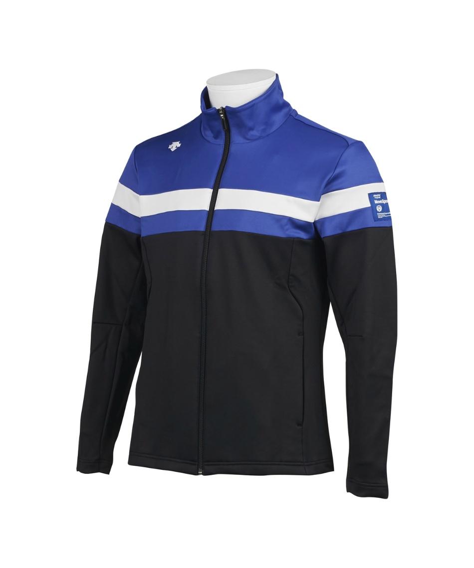 デサントゴルフ ブルー(DESCENTE GOLF BLUE) ゴルフウェア ジャケット ストレッチスムース裏起毛ジャケット DGMQJL55 【2020年秋冬モデル】