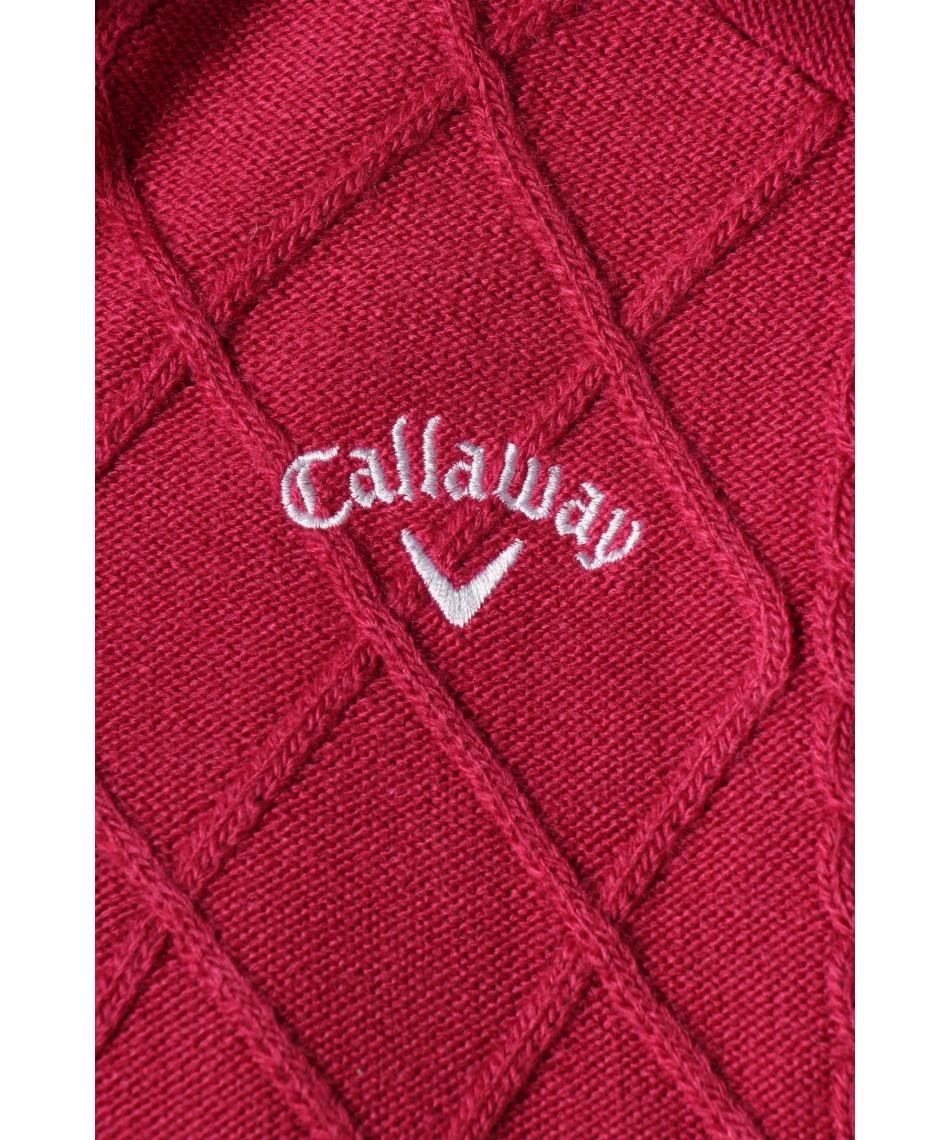 キャロウェイ(Callaway) ゴルフウェア ブルゾン ダイヤケーブルニットパーカー 241-0218810 【国内正規品】【2020年秋冬モデル】