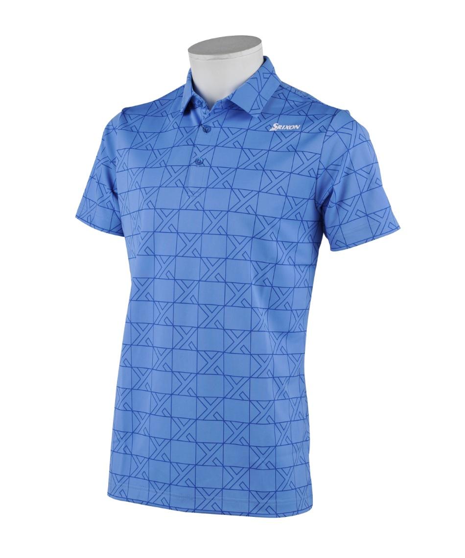 スリクソン(SRIXON) ゴルフウェア ポロシャツ 半袖 クロス格子ジャカード半袖ポロ RGMRJA16 【国内正規品】【2021年春夏モデル】