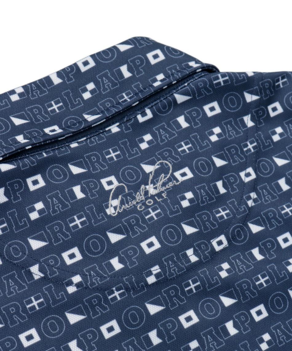 アーノルドパーマー(arnold palmer) ゴルフウェア 半袖ポロ インナーセット エンブレムBD半袖シャツ + 身頃メッシュ AP220101J11 + TD220110J01