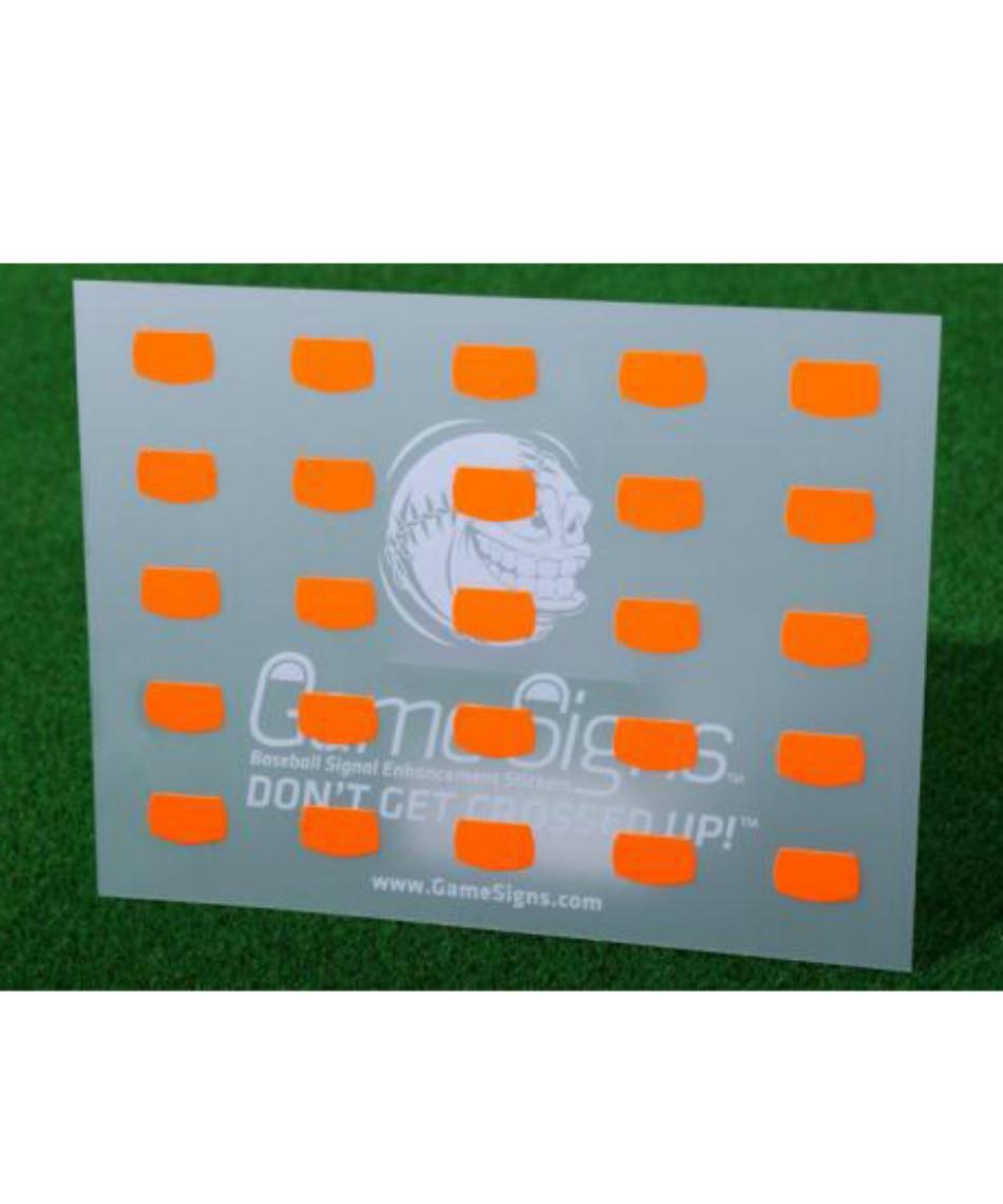 ゲームサイン (Game Signs)  該当商品群無し キャッチャー専用蛍光ステッカー MC-GS002
