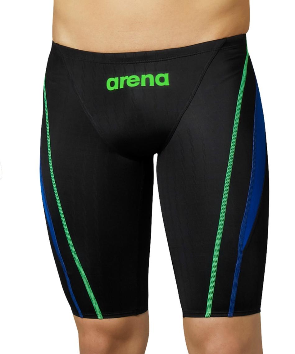 アリーナ(arena) FINA承認 競泳水着 ハーフスパッツ  ARN-0032M-BKBU