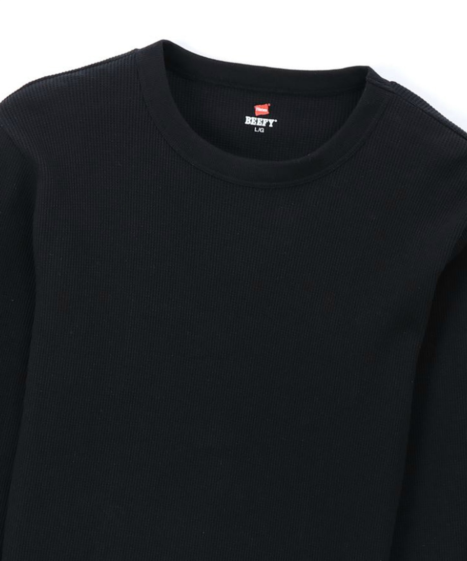 ヘインズ(Hanes) 長袖アンダーウェア ビーフィーサーマルクルーネックロングスリーブTシャツ  HM4-Q103-090
