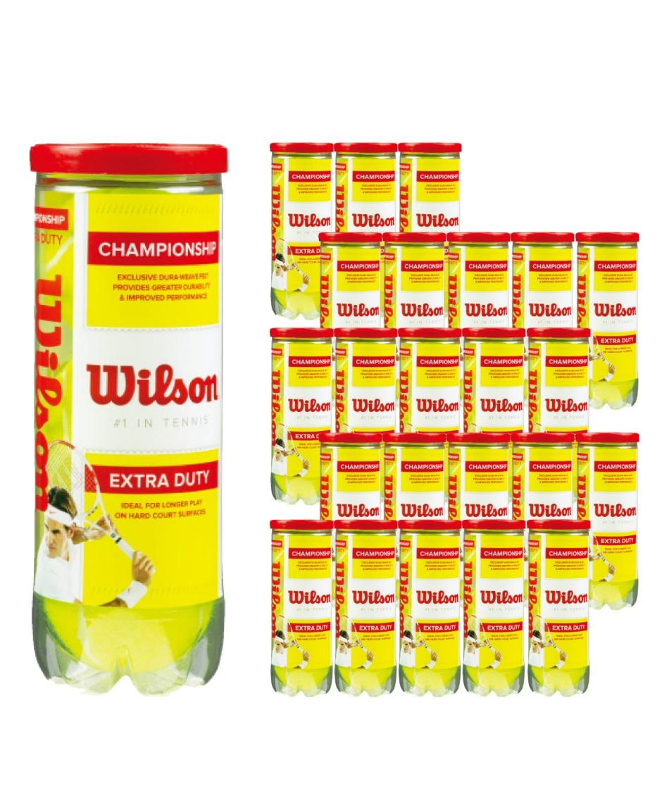 ウイルソン(Wilson) 硬式テニスボール チャンピオンシップ・エクストラ・デューティー(3球入) 24缶セット WRT100101 【国内正規品】