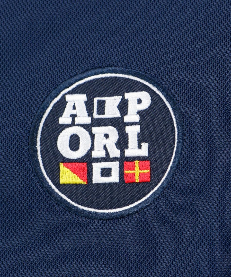 アーノルドパーマー(arnold palmer) ゴルフウェア 半袖ポロ インナーセット ワッペン半袖シャツ + 全メッシュUネック AP220301J01 + OP220310I04