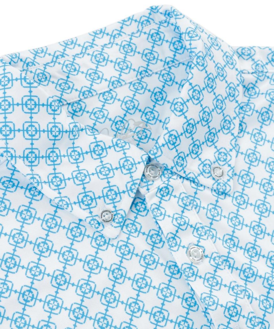 アーノルドパーマー(arnold palmer) ゴルフウェア 小紋柄ボタンダウン半袖シャツ + 総柄PTショートパンツ AP220101J02 + AP220109J02