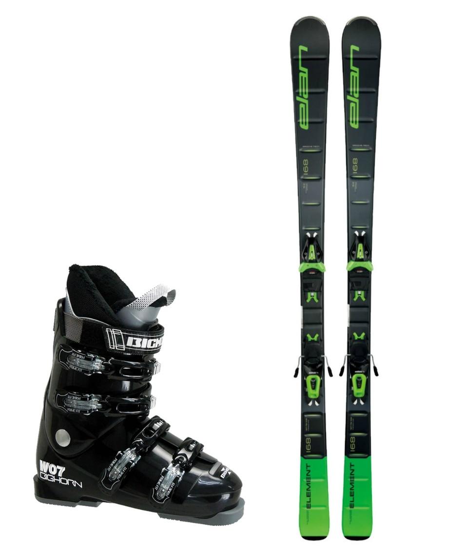 エラン(ELAN) スキー板 オールラウンド 板・金具・ブーツセット ELEMENT GREEN LIGHT SHIFT + EL10 + BH-W07