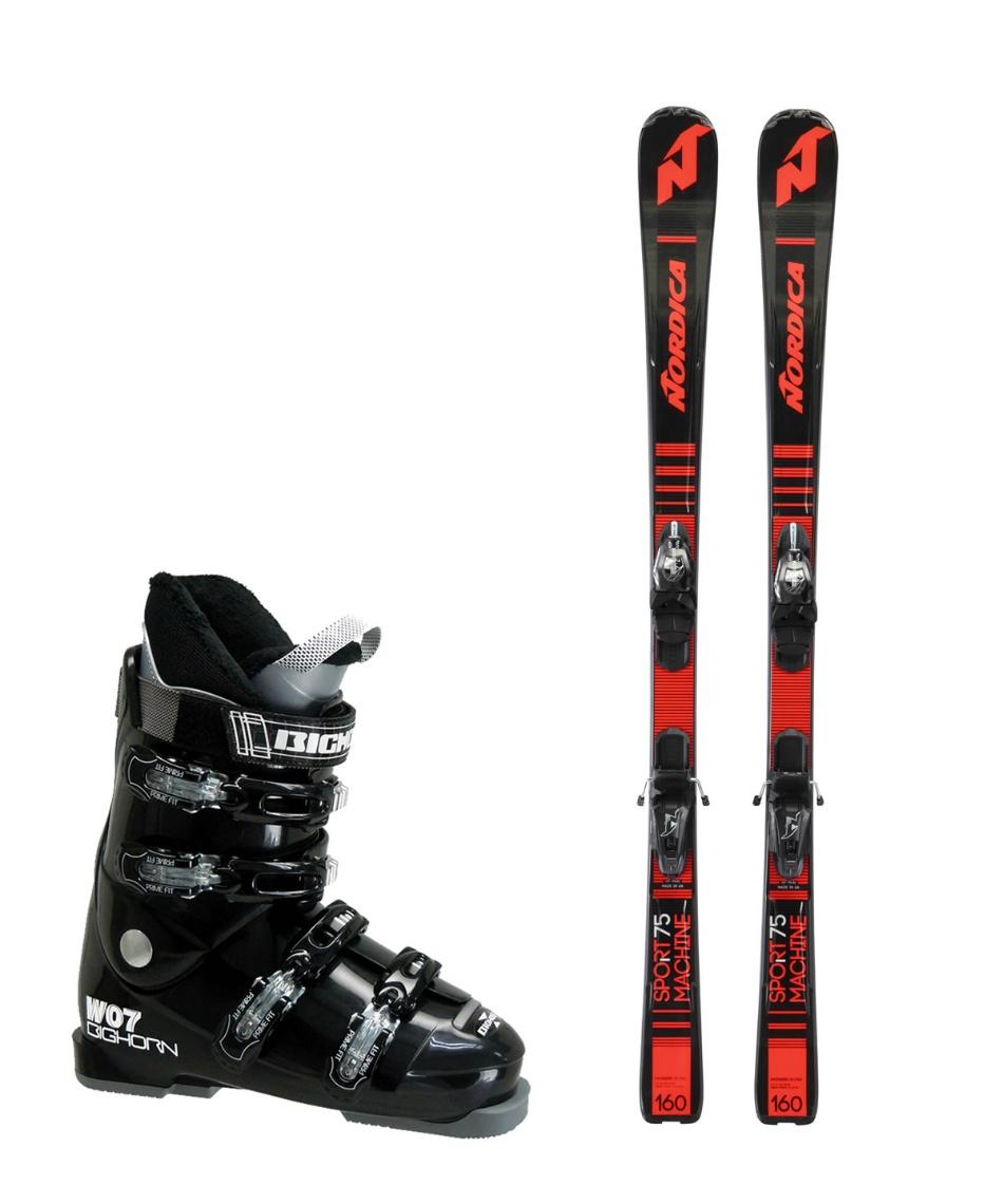 ノルディカ(NORDICA) スキー板 オールラウンド 板・金具・ブーツセット SPRTMACHINE75 +ADV P.R.EVO + BH-W07