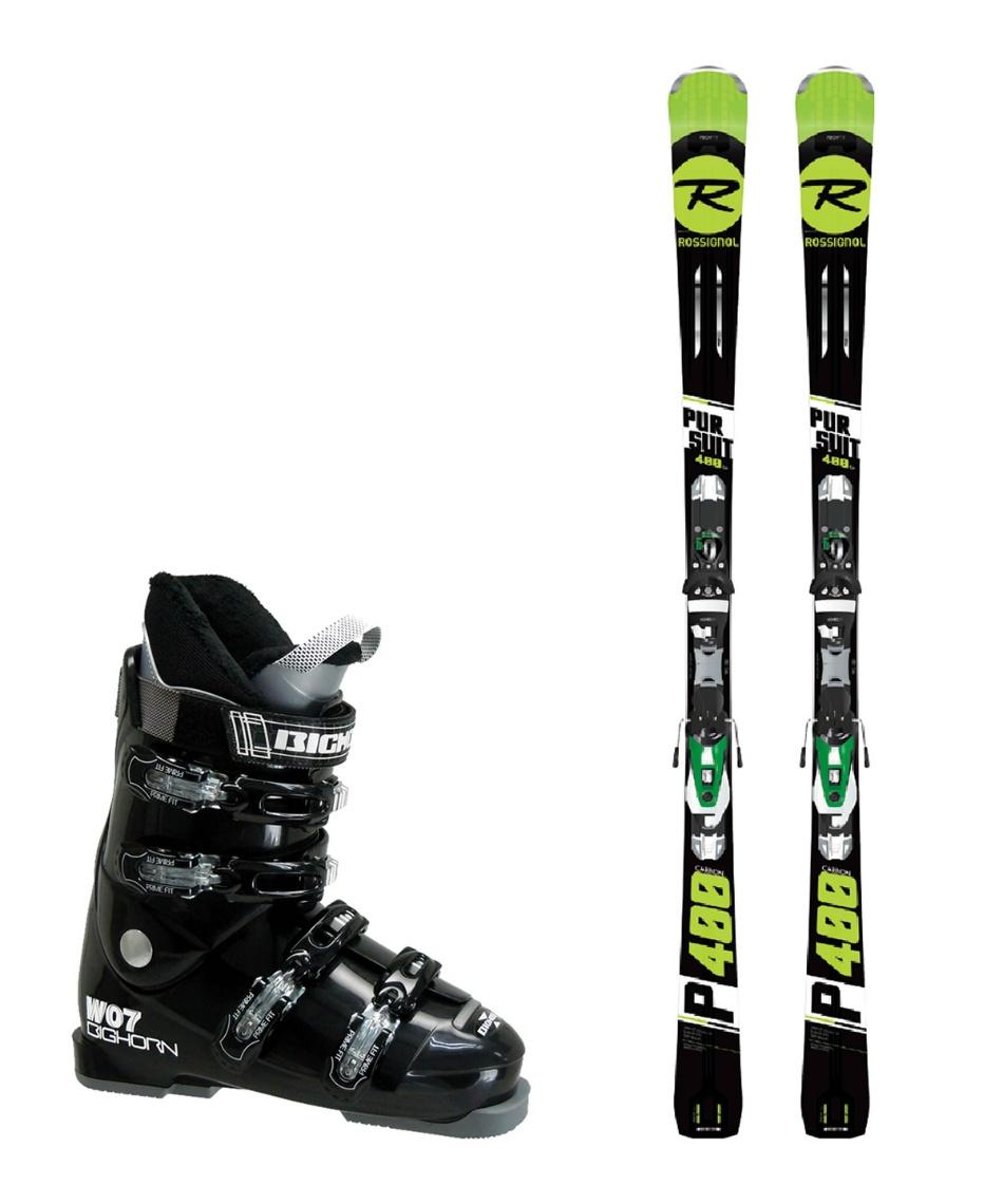 ロシニョール スキー板 オールラウンド 板・金具・ブーツセット PURSUIT400 CB+NX12 KONECT + BH-W07