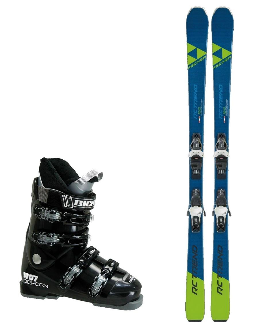 フィッシャー(FISCHER) スキー板 オールラウンド 板・金具・ブーツセット RC TREND + RS9 GW SLR + BH-W07