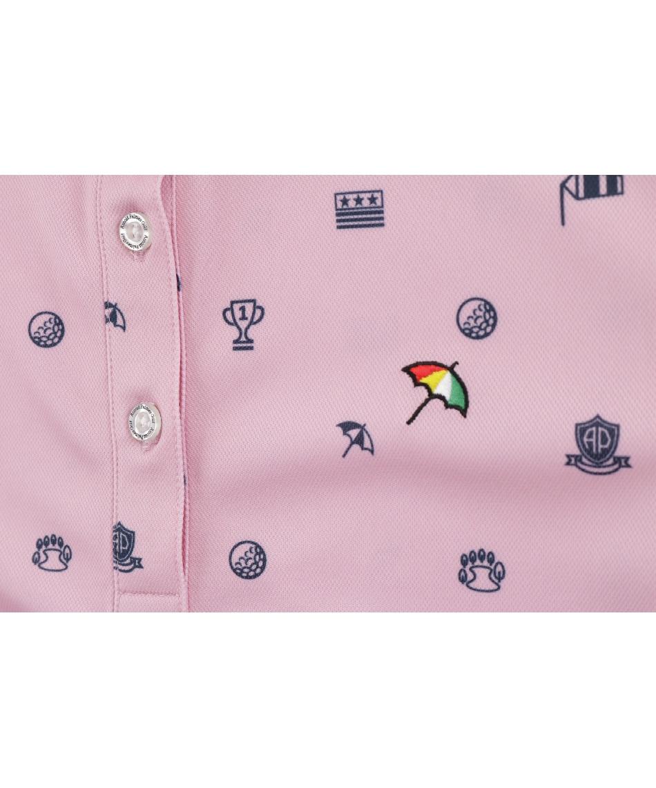 アーノルドパーマー(arnold palmer) ゴルフウェア ポロシャツ 長袖 飛柄長袖ポロシャツ AP220402J01 【2020年秋冬モデル】