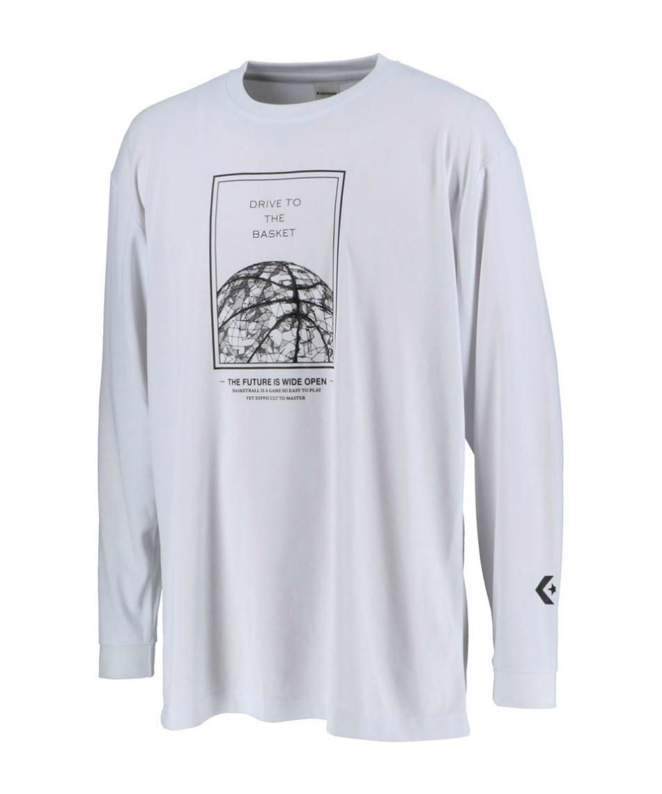 コンバース(CONVERSE) バスケットボール 長袖シャツ プリントロングスリーブシャツ CB202365L