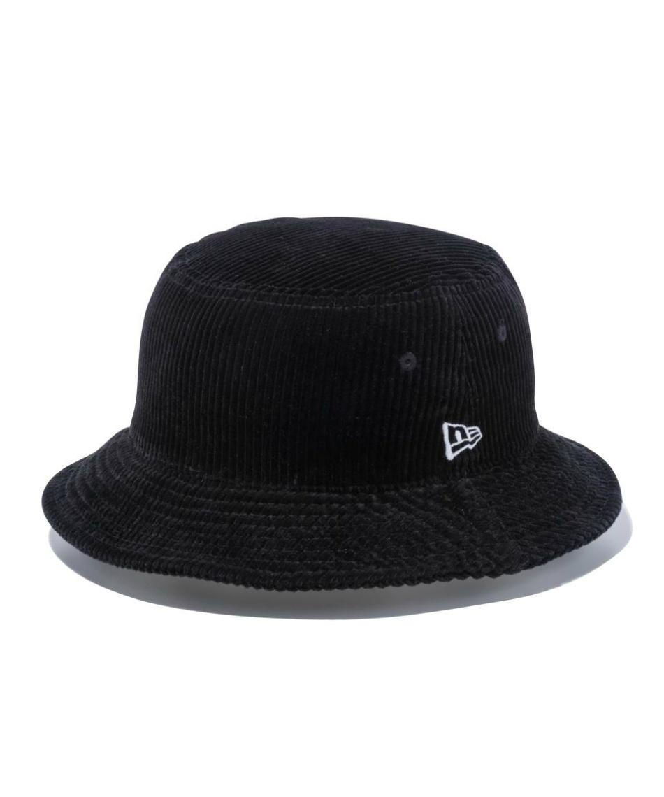 ニューエラ(NEW ERA) 帽子 ハット バケット01 コーデュロイ ブラック × スノーホワイト 12540518 【国内正規品】