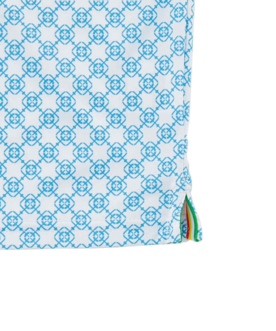 アーノルドパーマー(arnold palmer) ゴルフウェア 半袖ポロ インナーセット 小紋柄ボタンダウン半袖シャツ + 身頃メッシュ AP220101J02 + TD220110J01