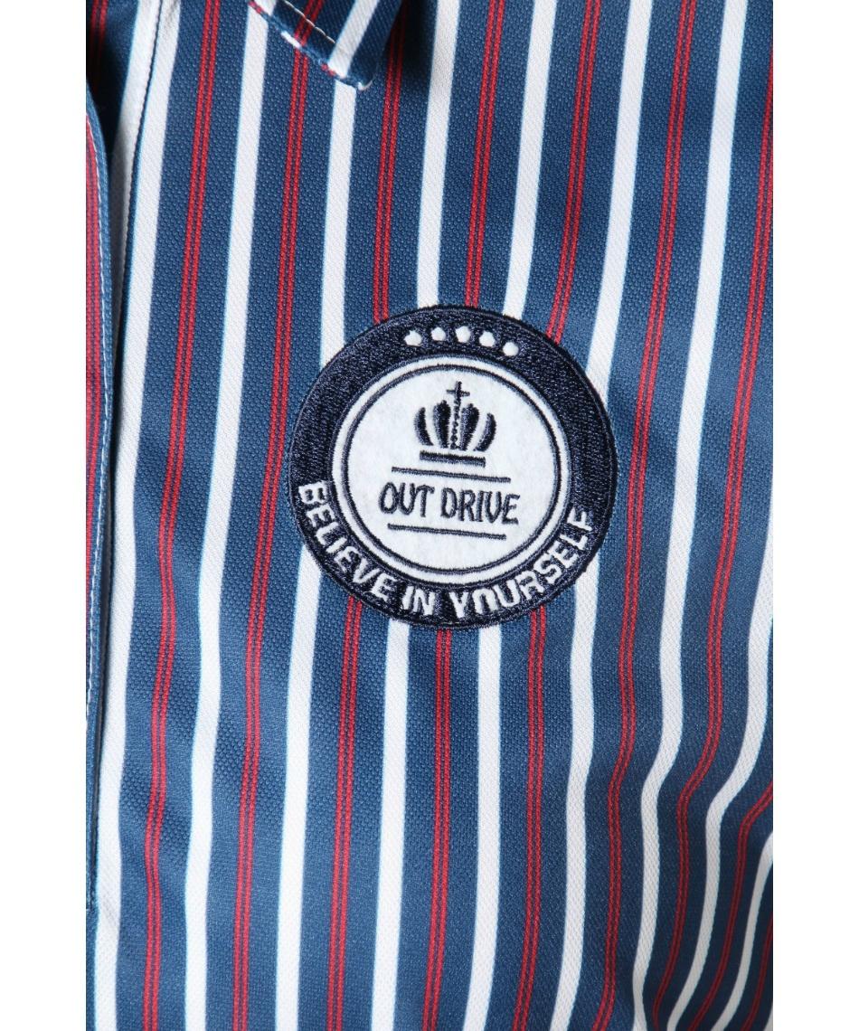 オプスト(OPST) ゴルフウェア 半袖ポロ インナーセット ストライプ半袖シャツ + 全メッシュハイネック OP220301J04 + OP220310I05