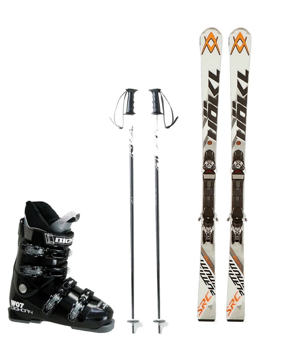 フォルクル(Volkl) スキー板 オールラウンド 板・金具・ブーツ・ポールセット PLATINUM SRC 11.0 D + X-MOTION + BH-W07 + SLALOM
