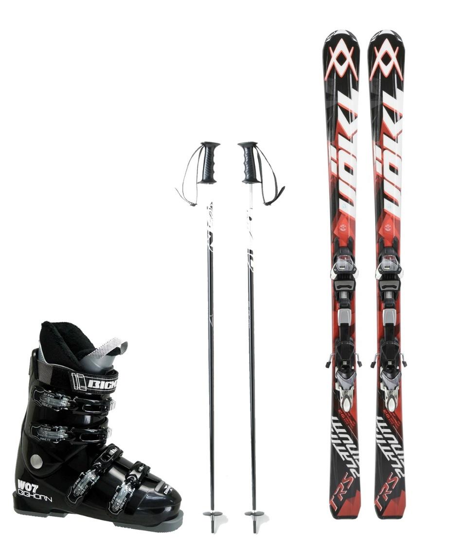 フォルクル(Volkl) スキー板 オールラウンド 板・金具・ブーツ・ポールセット PLATINUM TRS + 4MOTION 11.0 TC D + BH-W07 + SLALOM