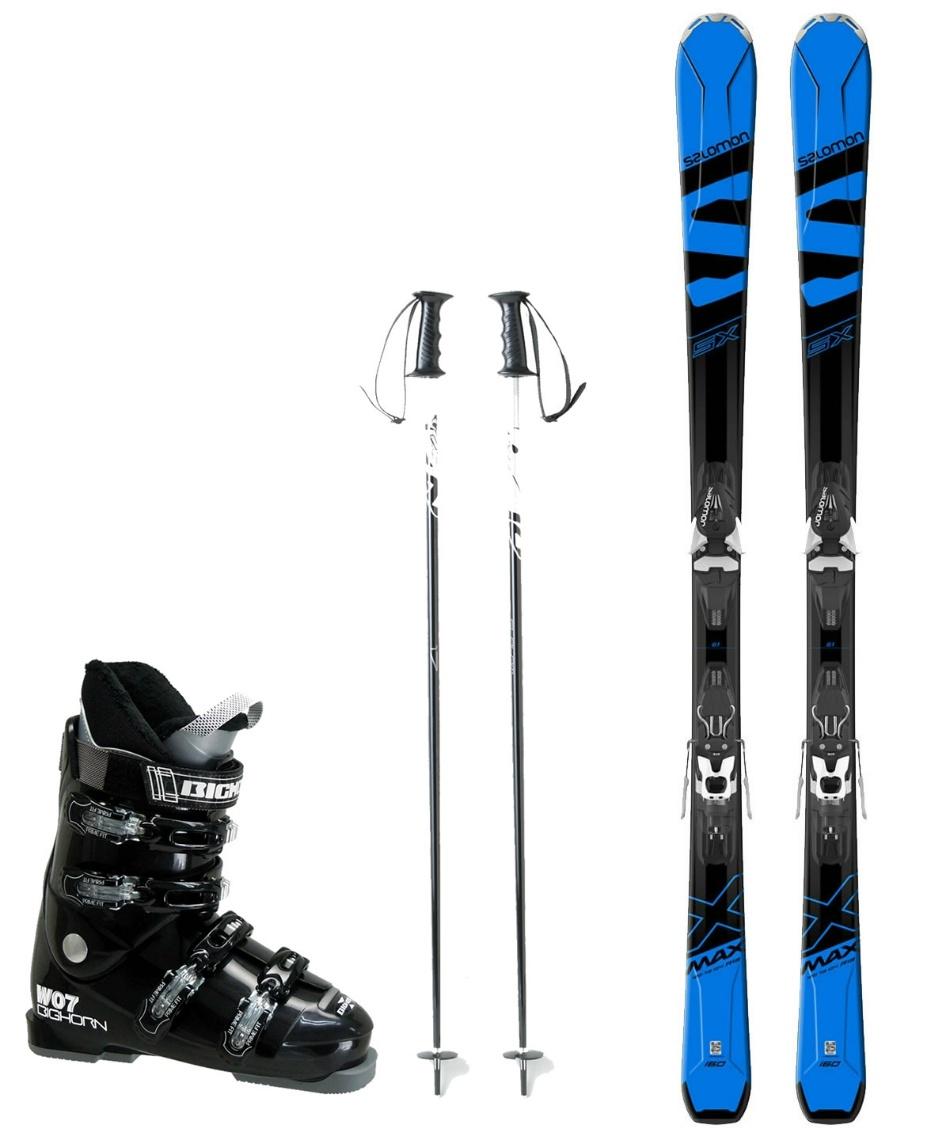 サロモン(salomon) スキー板 オールラウンド 板・金具・ブーツ・ポールセット X-MAX SX +MERCURY11-18+BH-W07+SLALOM
