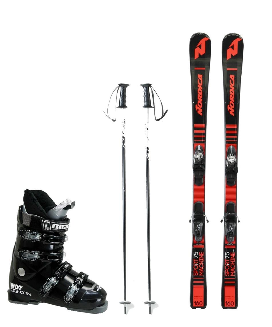 ノルディカ(NORDICA) スキー板 オールラウンド 板・金具・ブーツ・ポールセット SPRTMACHINE75 +ADV P.R.EVO+BH-W07+SLALOM