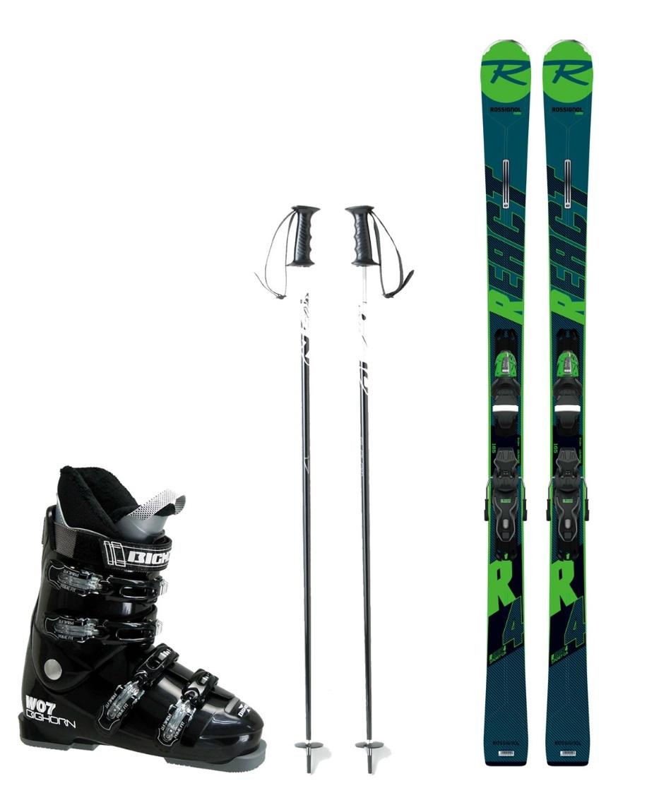 ロシニョール(ROSSIGNOL) スキー板 オールラウンド 板・金具・ブーツ・ポールセット REACT R4 SP CA +XPRESS10 B83+BH-W07+SLALOM