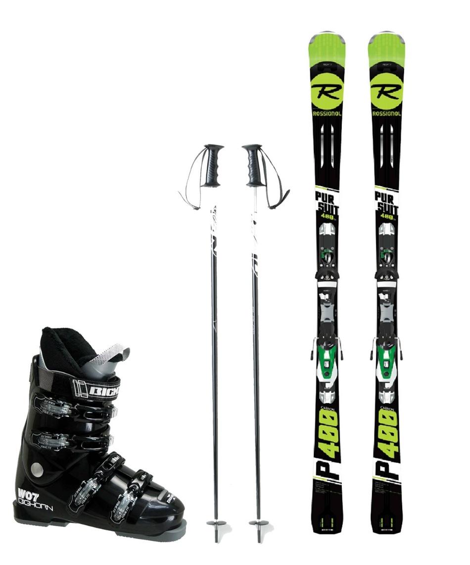 ロシニョール(ROSSIGNOL) スキー板 オールラウンド 板・金具・ブーツ・ポールセット PURSUIT400 CB+NX12 KONECT+BH-W07+SLALOM