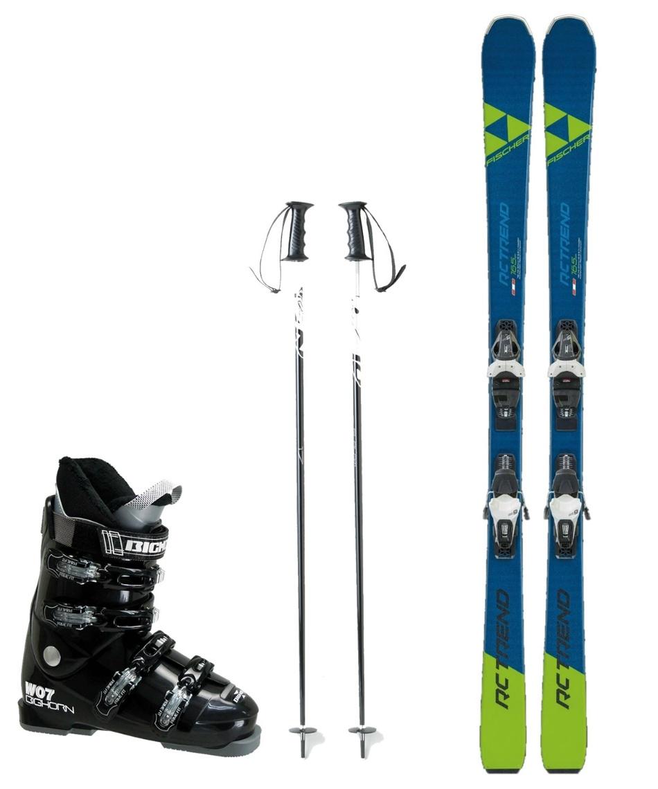 フィッシャー(FISCHER) スキー板 オールラウンド 板・金具・ブーツ・ポールセット RC TREND +RS9 GW SLR+BH-W07+SLALOM