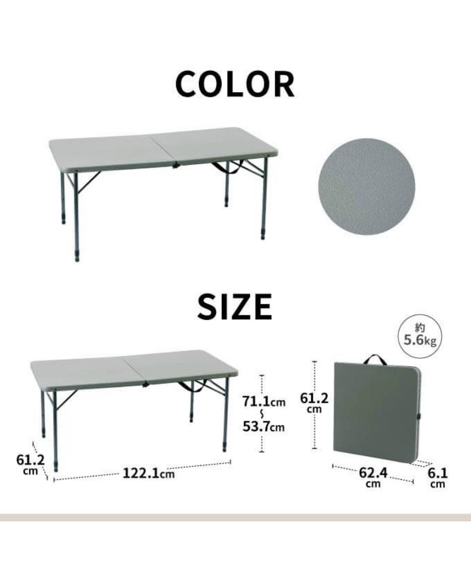 ビジョンピークス(VISIONPEAKS) アウトドアテーブル 120cm ヘビーデューティテーブル120 VP160401I05