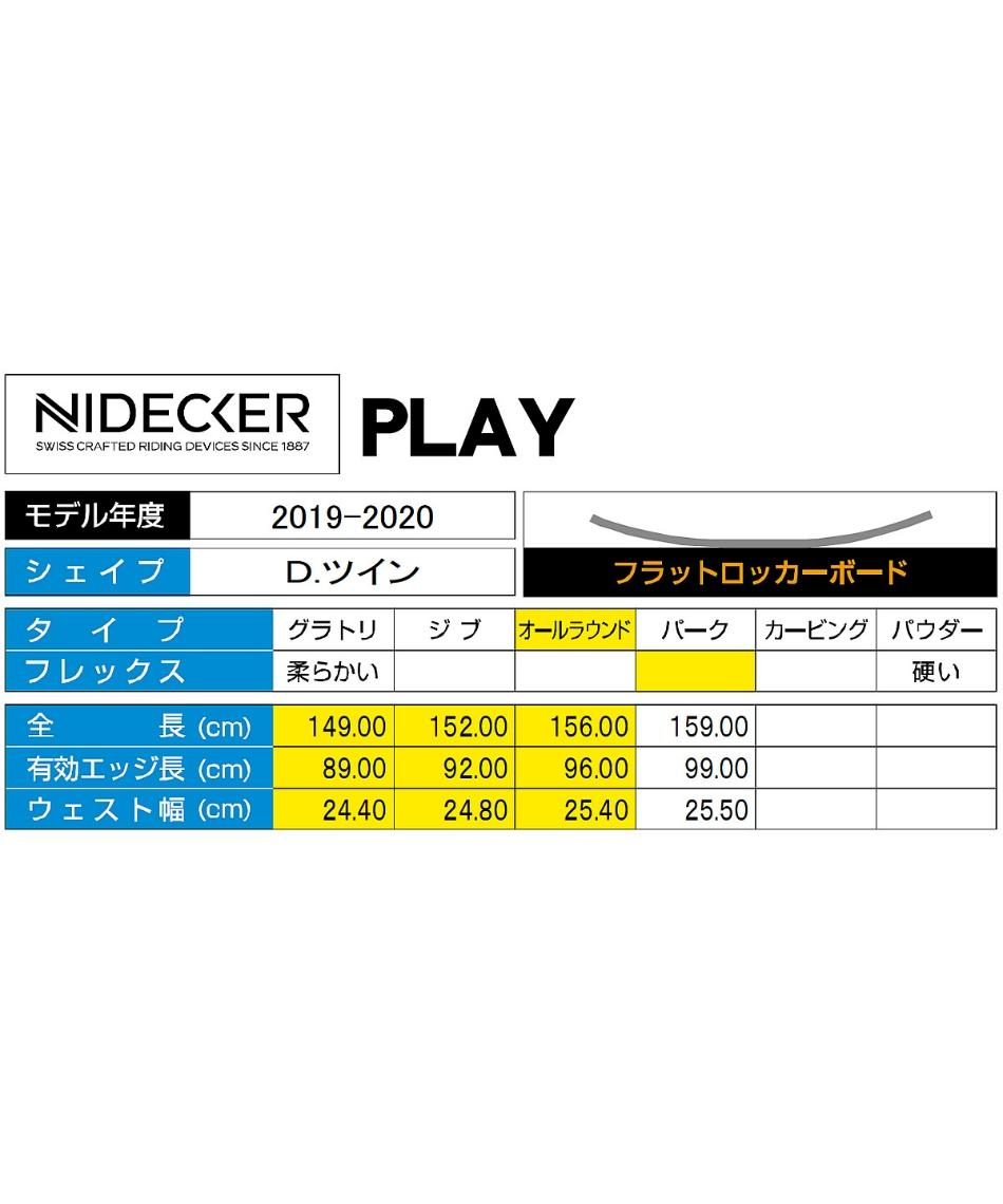 ナイデッカー(NIDECKER) スノーボード 板 PLAY プレイ 【19-20 2020モデル】