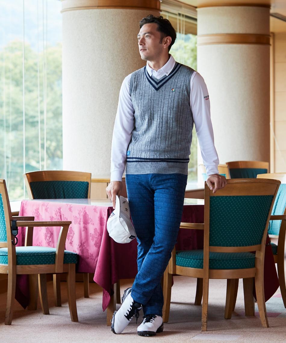 アーノルドパーマー(arnold palmer) ゴルフウェア ポロシャツ 長袖 ボタンダウン長袖シャツ AP220202J01 【2020年秋冬モデル】