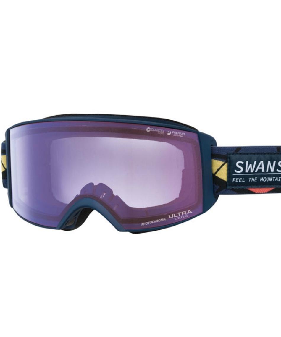 スワンズ(SWANS) スキー スノーボードゴーグル 眼鏡対応 ULTRA調光レンズ メガネ対応 ラカン V-RACAN-MDH-CU 【20-21 2021年モデル】