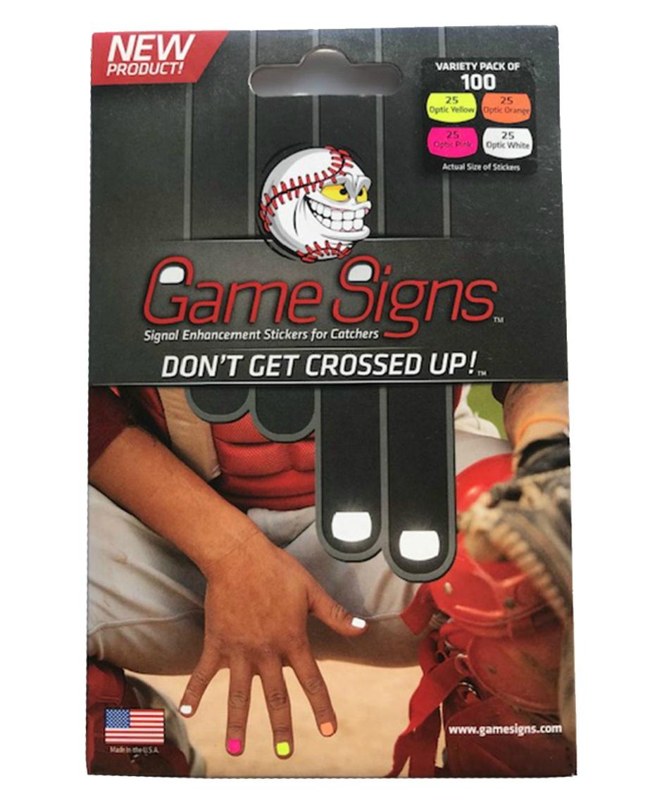 ゲームサイン (Game Signs)  該当商品群無し キャッチャー専用蛍光ステッカー MC-GS005
