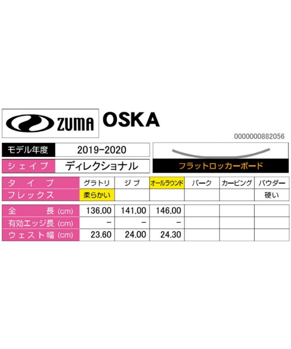ツマ(ZUMA) スノーボード 板 OSKA 【19-20 2020モデル】