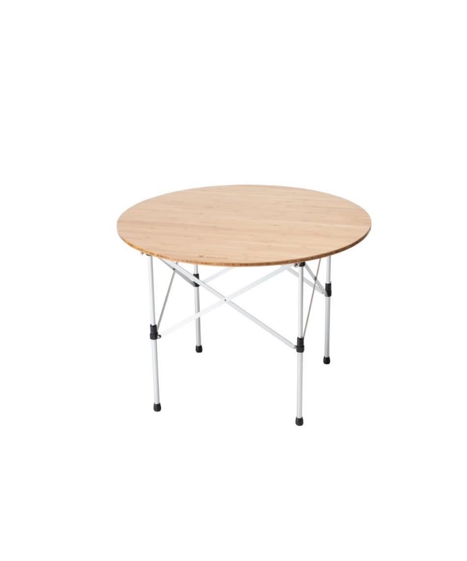 アウトドアテーブル 85cm 限定 ローテーブルラウンド竹 LV-242