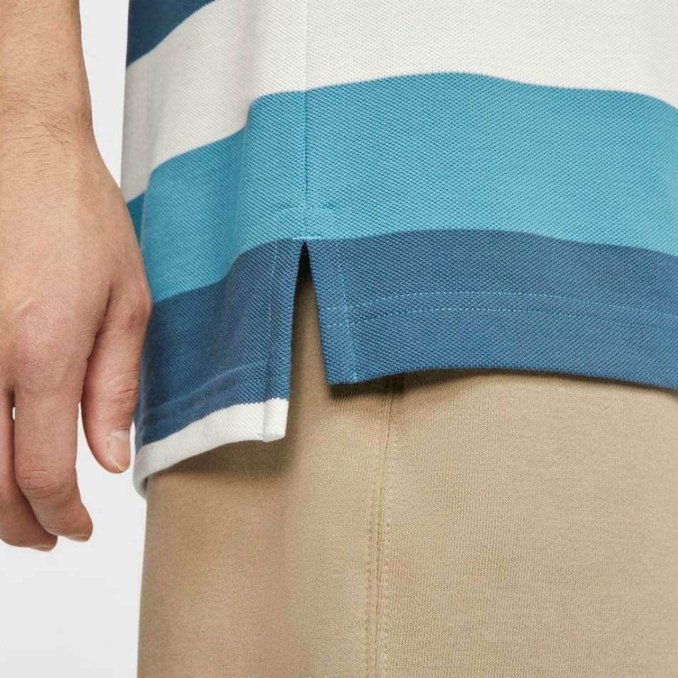 ナイキ(NIKE) ポロシャツ 半袖 ストライプポロ CJ4466-424