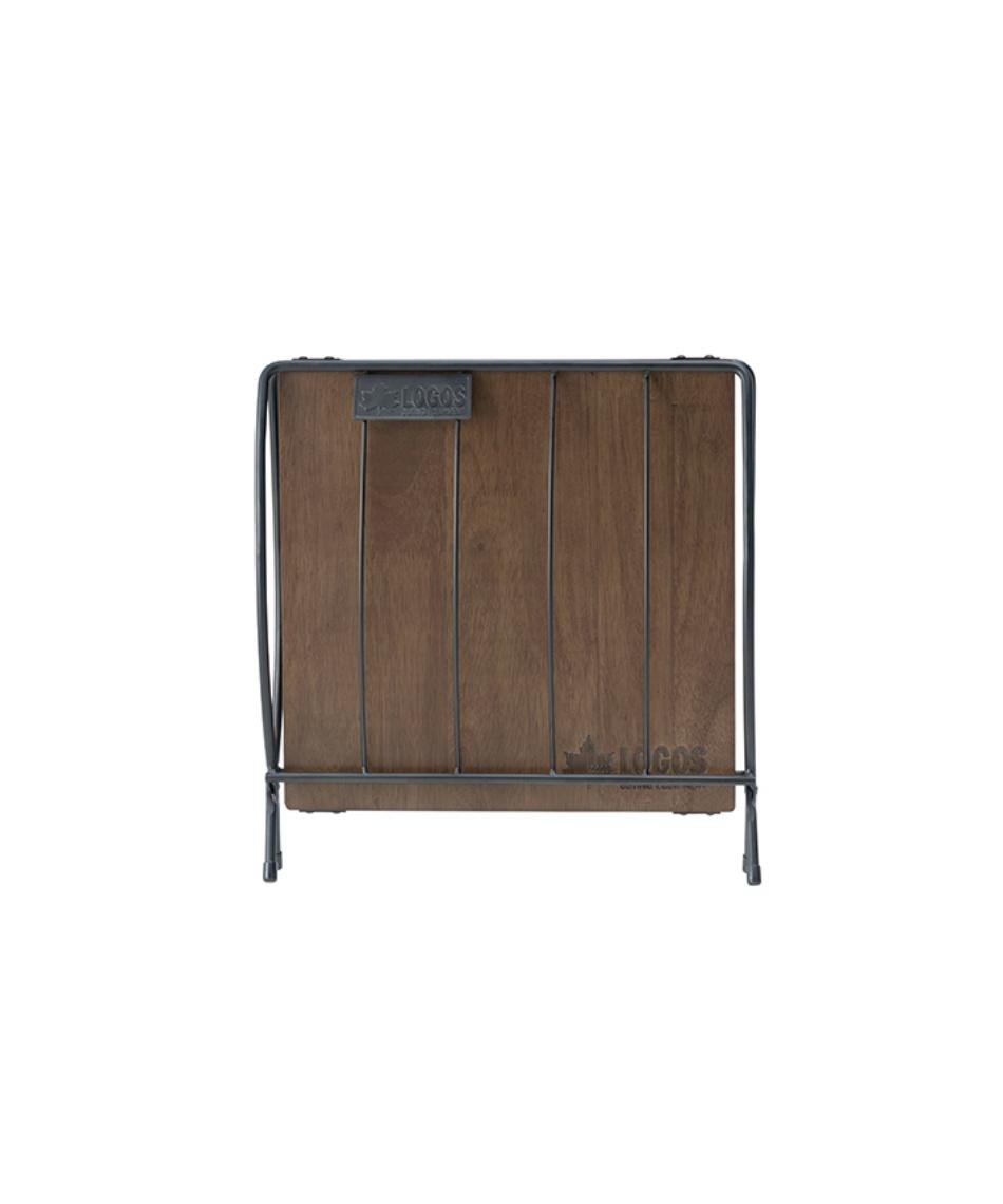 ロゴス(LOGOS) アウトドアテーブル 小型テーブル ワイド薪ラックウッドテーブル 81064183