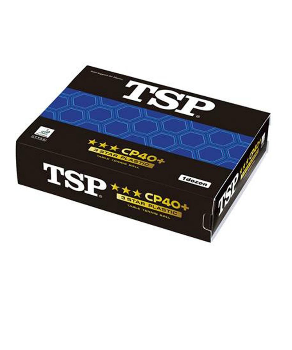ティーエスピー ( TSP )  卓球ボール CP40+3スターボール 1ダース入 014059