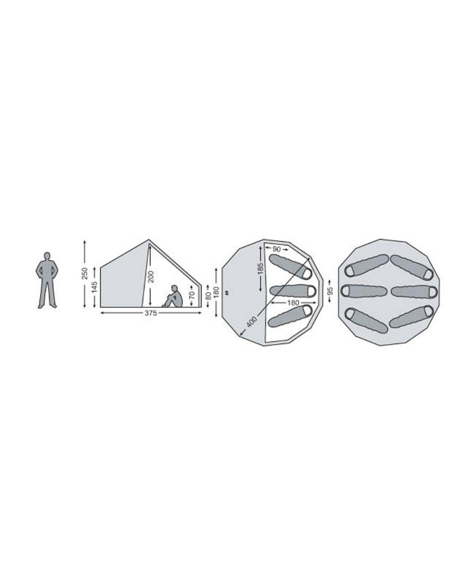 ノルディスク(NORDISK) テント ワンポールテント Asgard 12.6 アスガルド 6人用パオ型コットンテント 242023 【国内正規品】