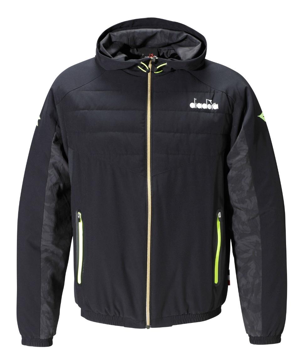 ディアドラ(DIADORA) テニスウェア バドミントンウェア 防寒ジャケット 中綿ハイブリッドジップジャケット DTD0185