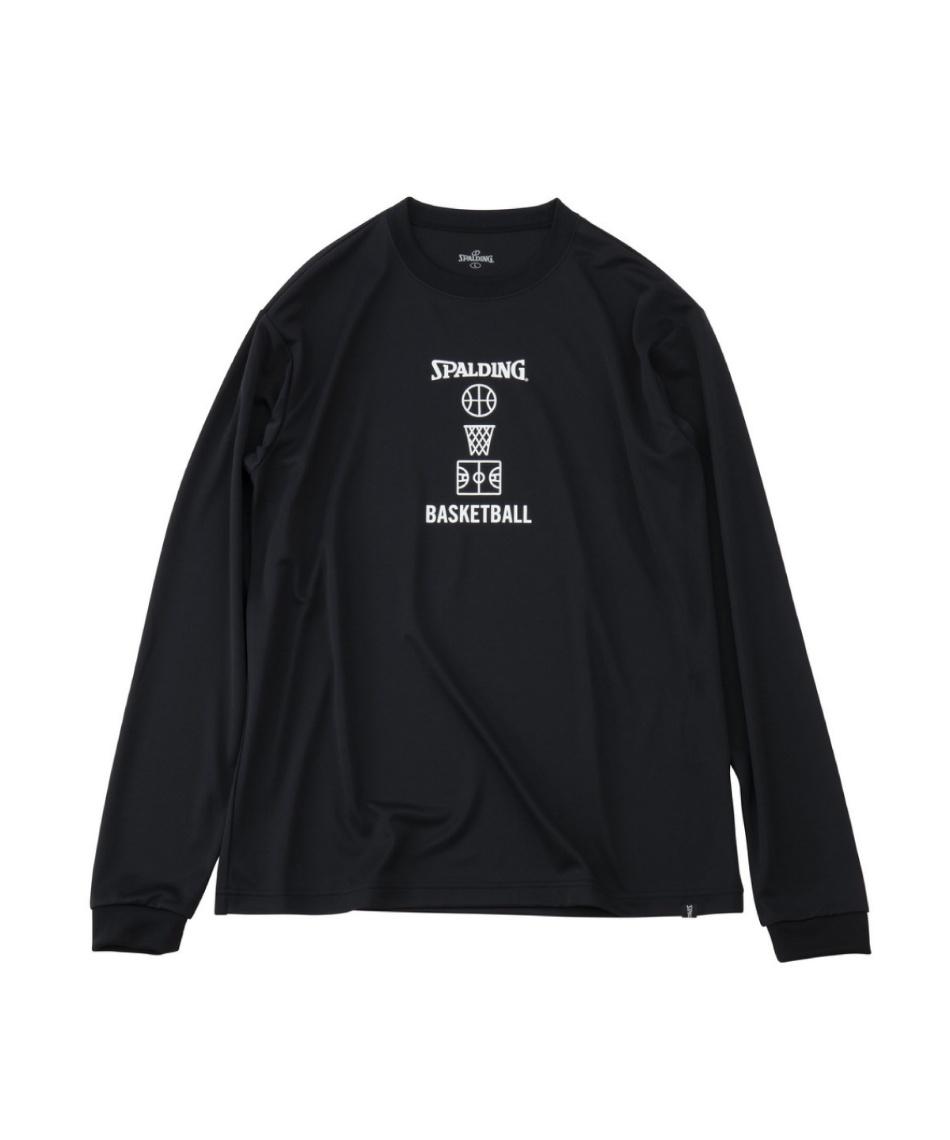 スポルディング(SPALDING) バスケットボール 長袖シャツ ロングスリーブTシャツ バスケットボールモチーフ SMT191120
