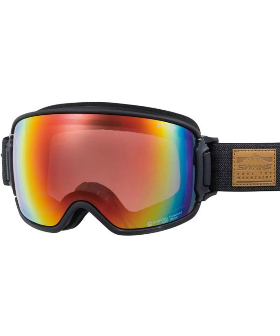 スワンズ(SWANS) スキー スノーボードゴーグル 眼鏡対応 偏光ミラーレンズ メガネ対応 V-RIDGELINE-MPDH 【20-21 2021年モデル】